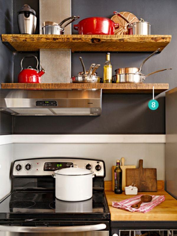 Kleine küche einrichten   landhausküche mit viel stauraum   http ...