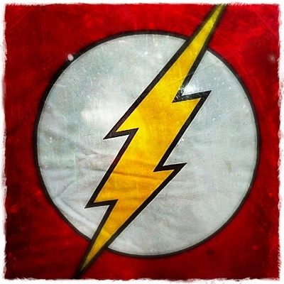 flash superhero symbol poster retro pinterest. Black Bedroom Furniture Sets. Home Design Ideas