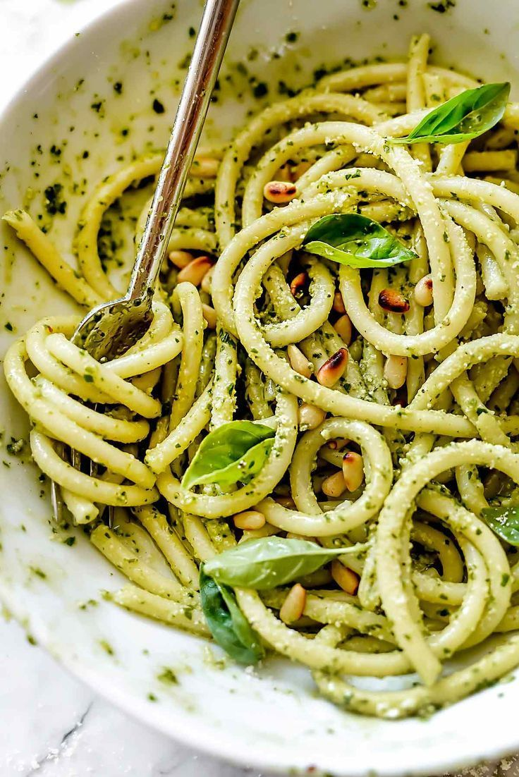 Easy Homemade Pesto Pasta Recipe Foodiecrush Com Pesto Pasta