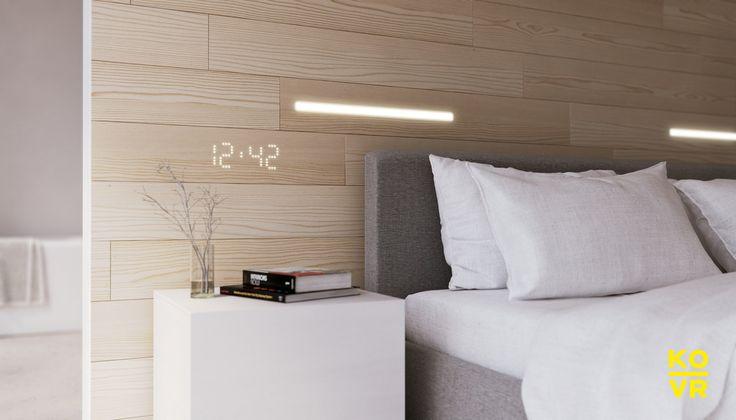 KOVR | Hyde | Integrated LED lighting clock on our pine wood decor