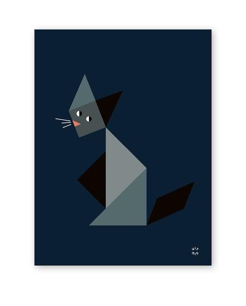 TANGRAM poster - Cat