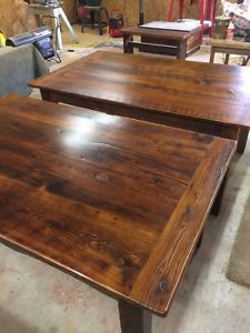 Harvest Table reclaimed Barn Board