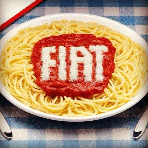 Enjoy our homemade spaghetti! :) #Fiat