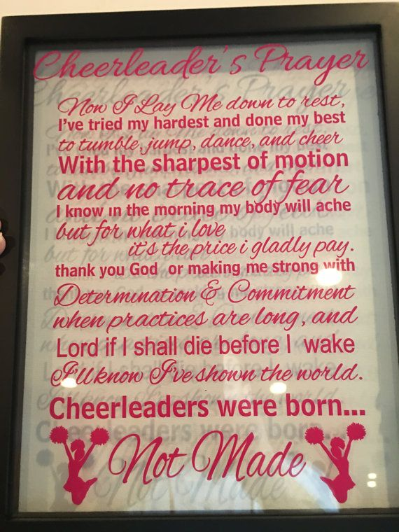 11w X 14h Cheerleader S Prayer Floating By