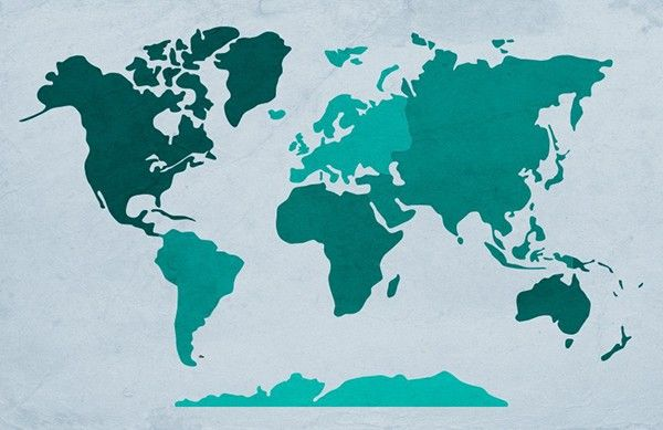 Image result for SIMPLE drawn map of the world