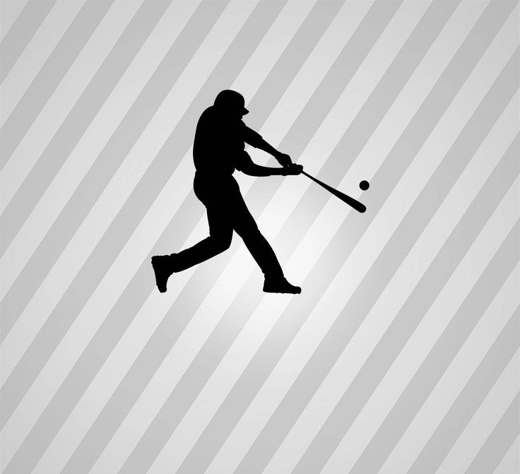 Baseball Batter Silhouette Baseball Hitter - Svg Dxf Eps Silhouette Rld Pdf Png AI Files Digital Cut Vector File Svg File Cricut Laser Cut