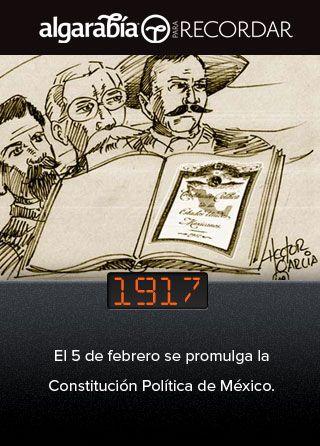 Hoy se celebra el Día de la Constitución Mexicana (vía @pa_recordar):