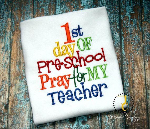1st Day of School Shirt - Funny t Shirt, School Dress, Back To School, Preschool Shirt, 1st Grade, 2nd Grade, 3rd Grade, Pre K Shirt, B2S