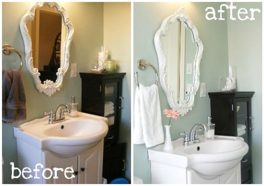 The Complete Guide to Imperfect Homemaking: {Home Staging 101} Part 4: Staging Bathrooms - white towels