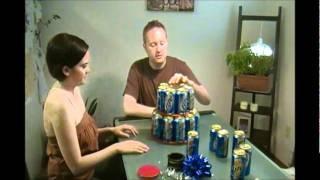 Miller Lite Beer Can Cake, via YouTube.