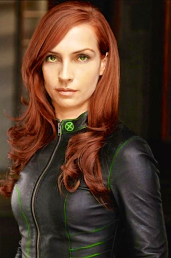 Famke Janssen Jean Grey with green contacts and red hair ...
