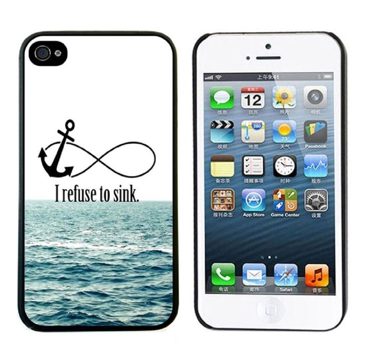 ABC 1pcs Newest Cute Hard Case for Iphone 5 5s (I Refuse To Sink):Amazon:Cell Phones & Accessories