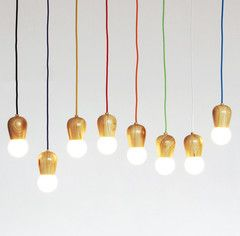 Wooden Socket Pendant Lights, tudoandco.com