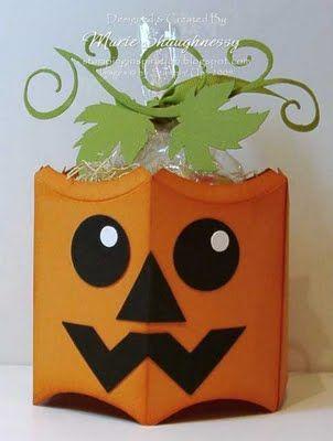 Stampin' Up!  Pillow Box Pumpkin  Marie Shaughnessy  Halloween