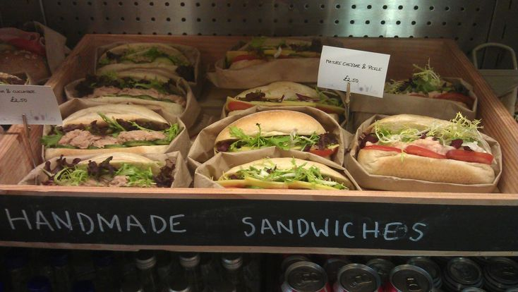 Wood box chalkboard sandwhich display