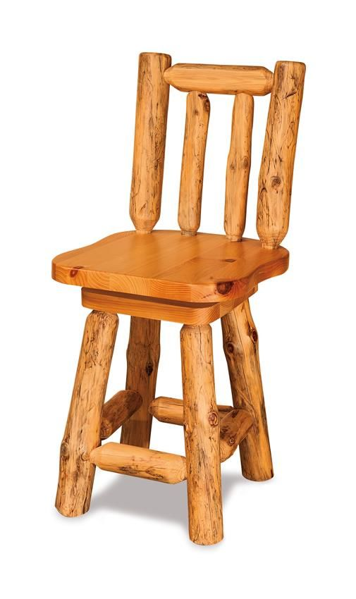 Amish Rustic Pine Bar Stool With Swivel Amish Pine And Bar