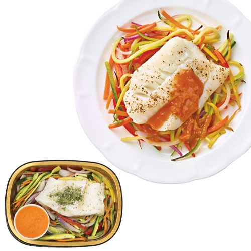 Wegmans Ready-to-Cook Cod and Veggie Spaghetti