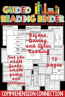 This guided reading binder includes PRINT AND GO pages you can use with any book for a wide variety of skills. Check out the preview for it on Teachers Pay Teachers