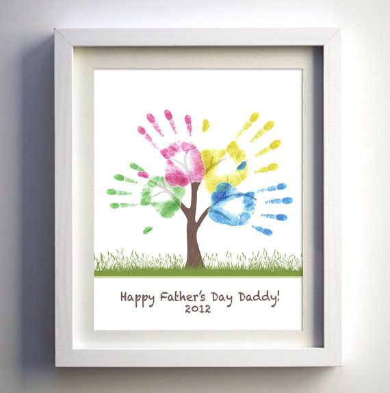 Fathers Day Gift  DIY Child's Handprint Tree by FancyPrintsforHome