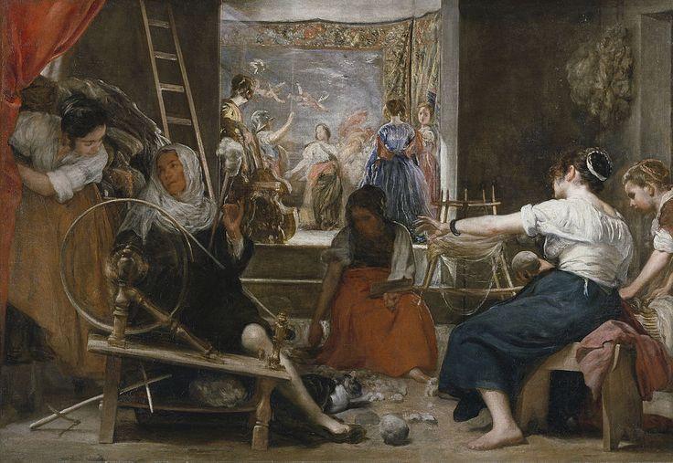 Velazquez-las hilanderas - Diego Velázquez - Wikipedia, la enciclopedia libre