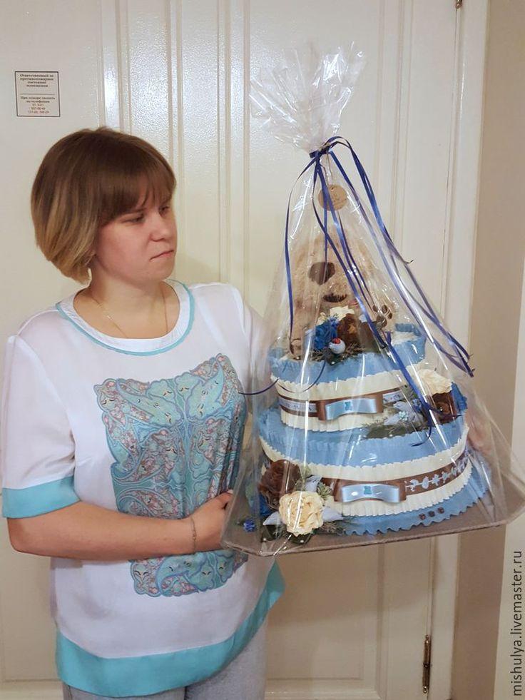 Как сделать торт из подгузников - Ярмарка Мастеров - ручная работа, handmade