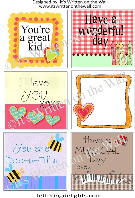 (Freebie) Get 48 Lunchbox Notes for your children's lunches. They're fun!