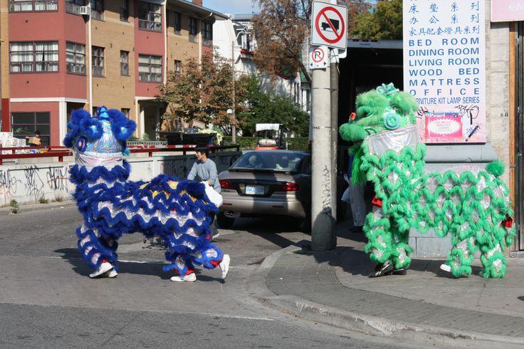 Dragons in China Town (on Spadina)