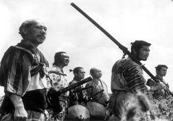 Seven Samurai movies weapons swords katana warriors black white martial arts asian oriental people men males wallpaper