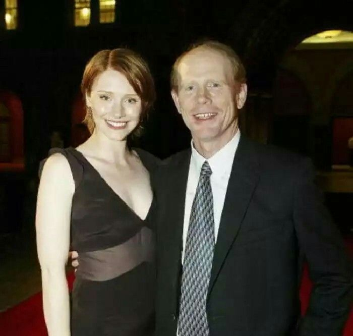 Ron Howard and his daughter Bryce. Bryce is the female version of her dad Ron. The resemblance is quite noticeable.