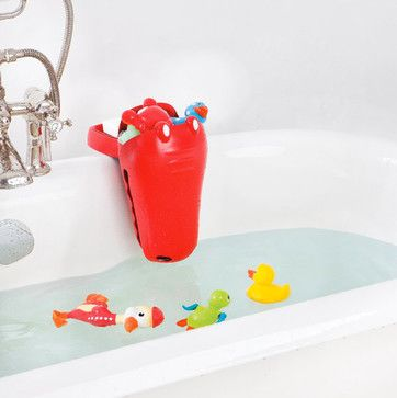 Aquatopia Croc Bath Toy Organizer Scoop With Clamp - eclectic - toy storage - Buy Buy Baby