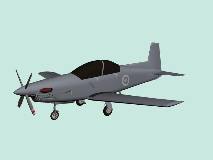 Max Pilatus Pc 9 Plane - 3D Model