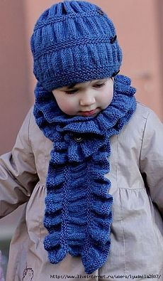 Children set Frill Set: cap and scarf.  Spokes.  / Discussion on LiveInternet - Russian Service Online Diaries