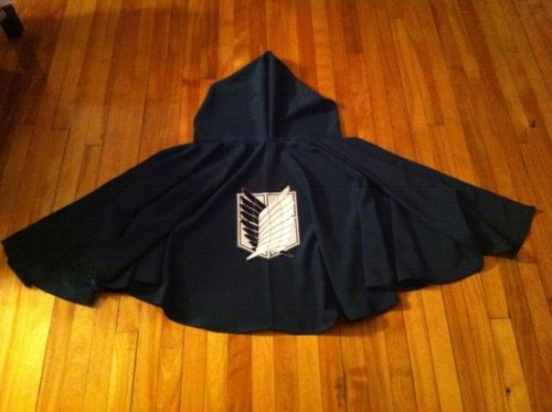 """coralpeachy: """" Or how I made a cape and now never want to wear anything but. Or simply a simple circle cape tutorial. You can of course buy the survey corps cape online, there are dozens for sale for..."""