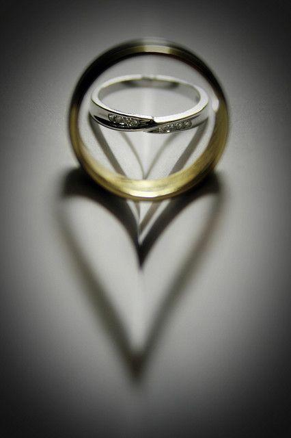 Wedding ring hearts...