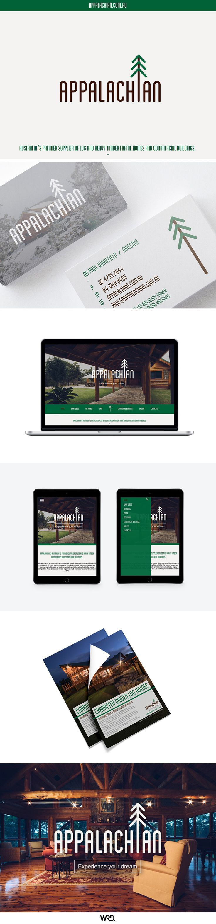 Appalachian - Australia's premier supplier of log homes. Branding by WRD.