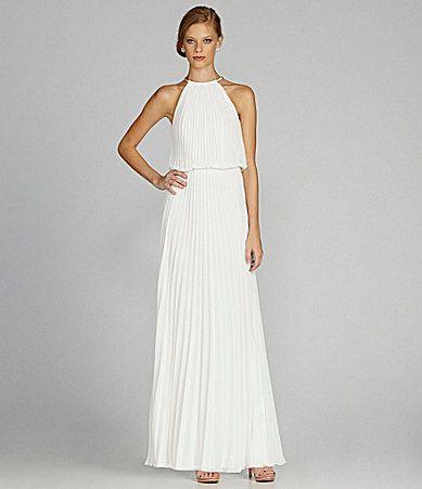 Turmec » xscape drop back halter dress