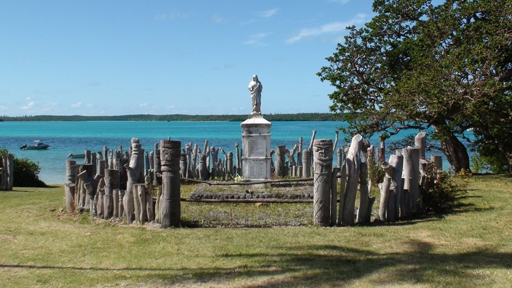 War Memorial South Pacific Style on the Isle of Pines in New Caledonia.
