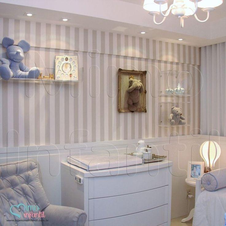 Papel de parede para decora o de quarto de beb e - Papel pared bebe ...