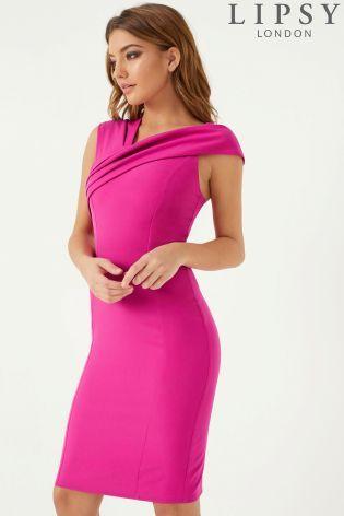 d2dacfdfa5 Lipsy Asymmetric Neck Bodycon Dress   Wedding Looks in 2019   Dresses, Prom  dresses, Beach wear dresses