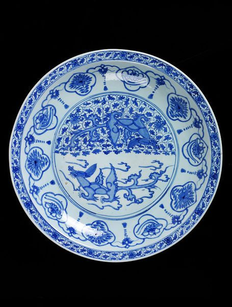 Dish Iran, 16th century or 17th century Fritware painted in underglaze blue V&A, 1272-1876