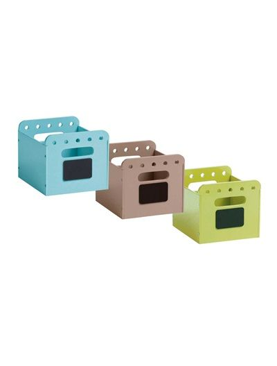 *Happy Price Set of 3 Mix & Match Storage Boxes for Shelves White+Blue + taupe + pistachio+Pink + powder pink + purple