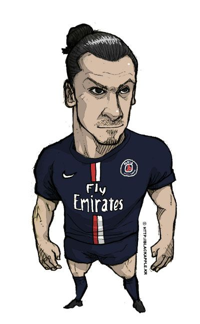 PSG no.10 Zlatan Ibrahimovic fan art