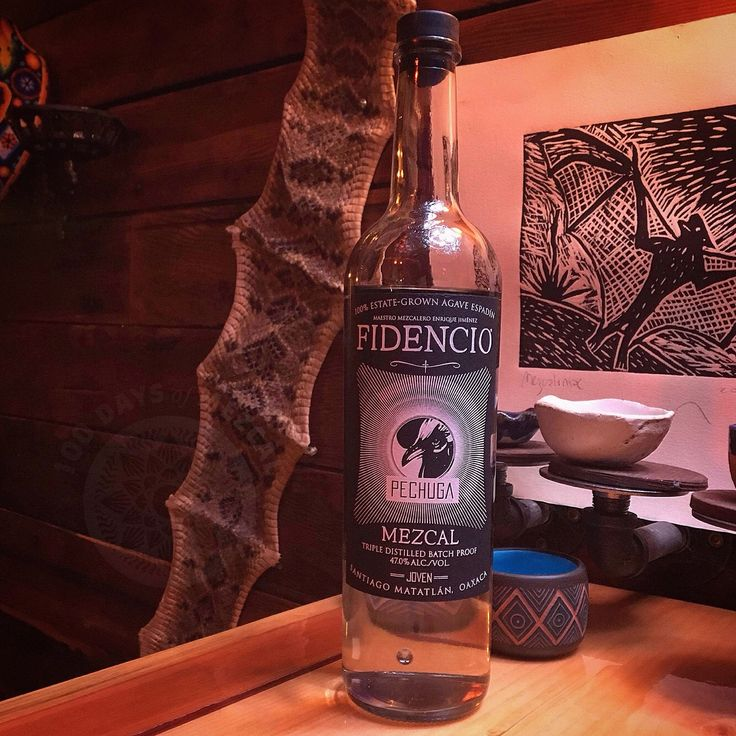 Fidencio Pechuga  Agave: A. Angustifolia (aka Espadín)  ABV: 47 Region: Santiago Matatlán Oaxaca Elevation: 1728 m (5672 ft) Mezcalero: Enrique Jiménez  Nose: Guava earth apples Palate: Tropical fruit roasted agave Distillation: x3 w/quince apples bananas pineapples guava & chicken breast in copper still. . . Produced by second generation master mezcalero Enrique Jiménez son of Fidencio the namesake for Fidencio mezcal this spirit really captures the beauty of mezcal and its rich culture…