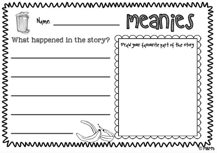"Meanies Writing Task  from  ""Meanies"" Literacy Bundle  by Joy Cowley"