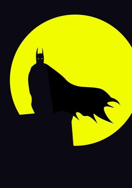 Batman Personnages minimalistes Super Héros DC Comics & Marvel affiche poster 7