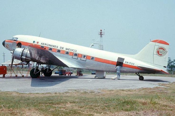Aeromexico DC3 Aviones, Lineas aereas, Viejitos