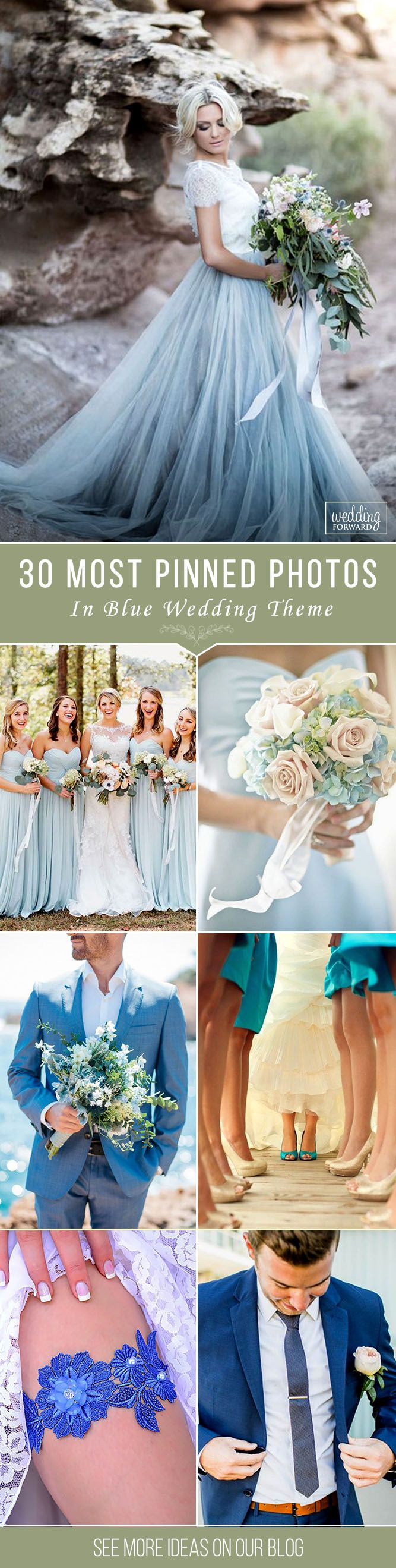 30 Most Pinned Photos In Blue Wedding Theme ❤ The blue wedding theme is a great opportunity to add brilliance to your celebration. Look up the most popular blue wedding ideas. See more: http://www.weddingforward.com/blue-wedding-theme/ ‎#wedding #photography