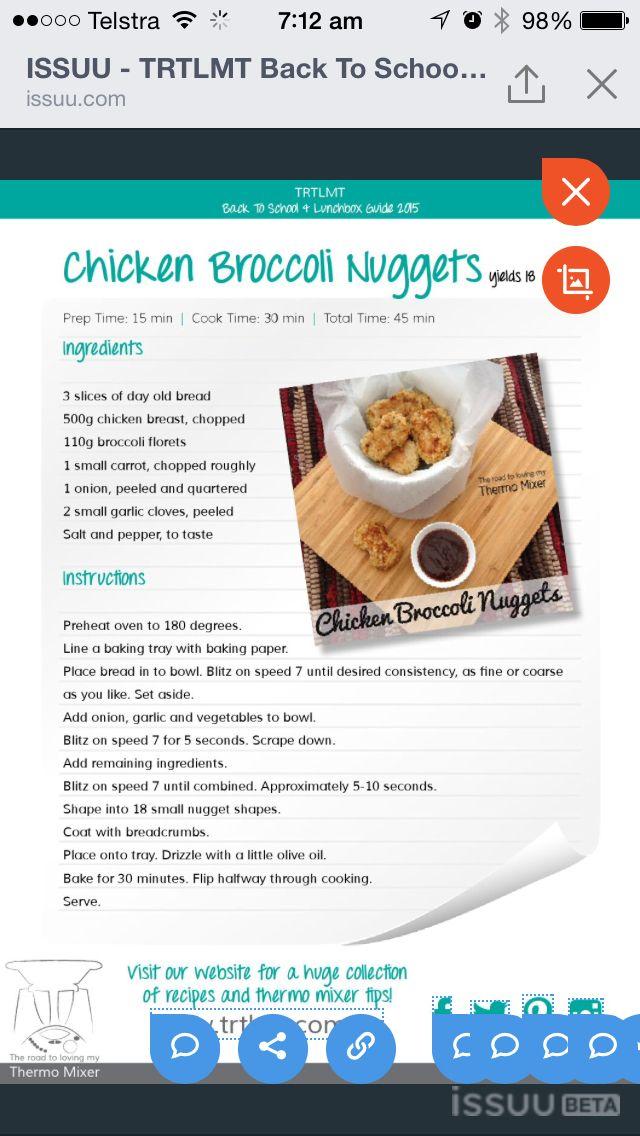 Chicken broccoli nuggets