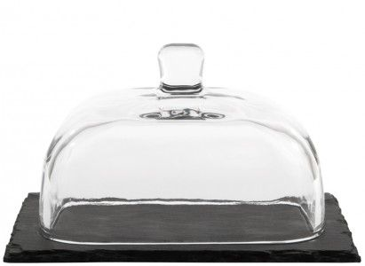 Glass and slate butter dish! #Weylandts #Entertaining