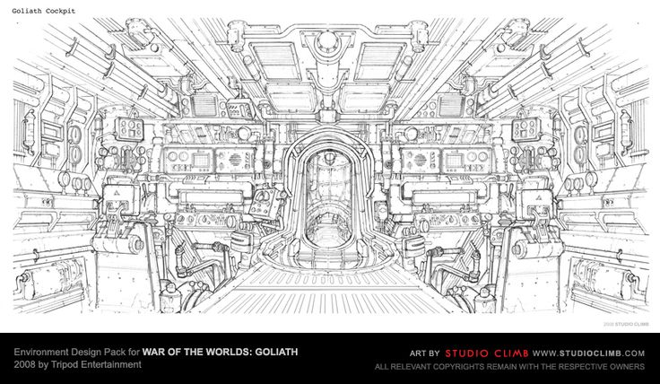 Environment Design Pack for War Of The Worlds: Goliath --- Goliath cockpit